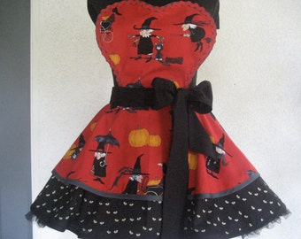 Witchy Woman's  Halloween Apron