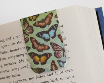 Magnetic Bookmark, Laminated Bookmark, Butterflies, Nature, Butterfly, Spring, Unique, Ready To Ship