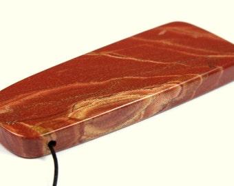 Australian Red Snake Skin Jasper Designer Cut Pendant - 56.5mm x 22mm x 5.3mm - B0862