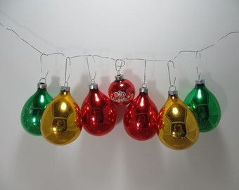 Vintage Christmas Tree Ornaments Glass Ornaments Shiny Brite Ornaments Mercury Glass Ornaments Holiday Decor