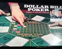 Game Milton Bradley Dollar Bill Poker - A 1974 Board Game of Bluff and Challenge Toy