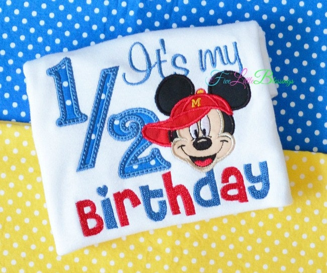 Happy Half Birthday 12 Birthday Mouse Ears Clubhouse