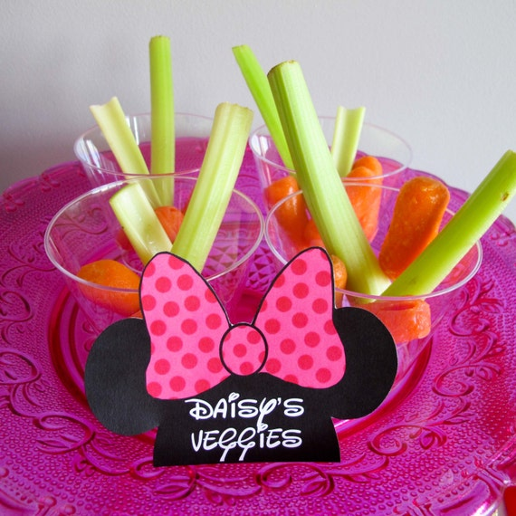 Minnie Mouse Party Labels Food Labels Nametags Favor By