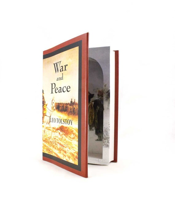 Hollow Book Box  - War and Peace  by Leo Tolstoy - Large Book Safe