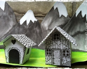 The Little Paper Chalet Kit: Large Paper House