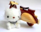 Crochet amigurumi cat - Nikoko MochiQtie - Mini size Amighrumi stuffed animal toy doll