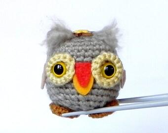 Amigurumi - Owl Woody MochiQtie - Crochet amigurumi mochi size mini stuffed toy doll