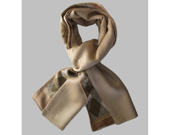 Men's Cashmere and silk scarf