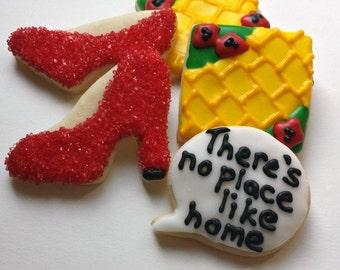 Mini There's No Place Like Home Sugar Cookies - Housewarming Cookies - 2 1/2 Dozen Mini Cookies