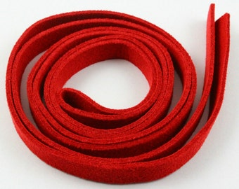 5 Pcs Red Imitation Leather Belt 8mm width / 1.5mm Thickness / 100cm long (CORD05)