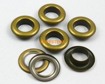 50Pcs 27mm Antique Brass Round Grommet Eyelet Big Grommet 15mm Internal Diameter (BRG27)