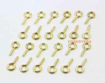 500Pcs 5x10mm Eye Screw Gold Screw Eye Pins (JS-YY2)