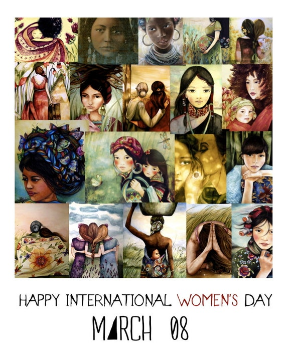 Women's day poster art print