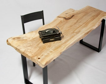 YOUR CUSTOM:  Live Edge medium DESK - Elegant - Natural - Modern