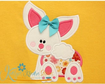 Personalized Baby Easter Bunny Shirt  - Appliqued and Embroidered