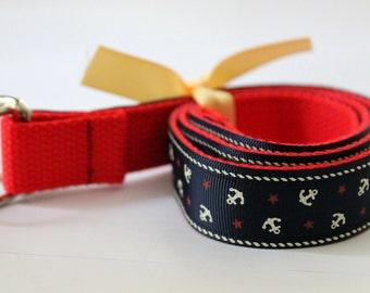 Kids Anchor Belt Navy Anchor Belt Red Kids Belt Nautical Ribbon Belt Boys Anchor Belt Girls Anchor Belt Velcro Belt Kids Belt