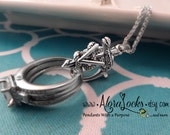 AloraLocks Veterinarian Ring or Charm Holding / Holding Pendant - Sterling Silver