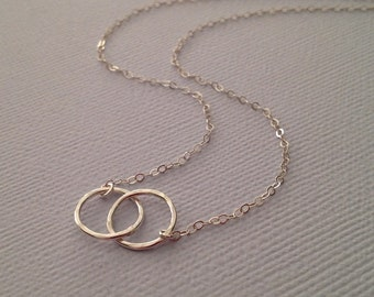 Entwined Circles Sterling Necklace
