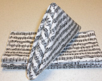 "18"" x 18"" Musical Notes Cloth Napkins"