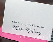 Thank You From the Future Mrs. Cards Bridal Shower, Engagement, Wedding Thank You Notes Cute Soon-to-Be Shower Gift Bachelorette (25ct) CS09
