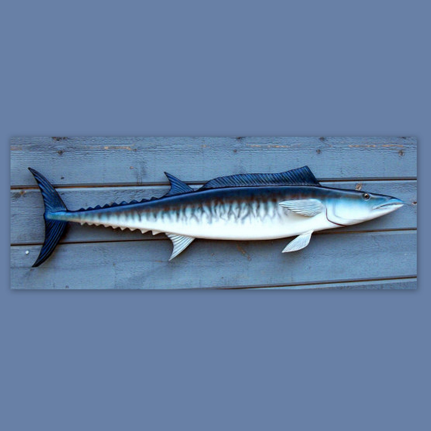 Wahoo fish wood carving 45 39 39 sport game fish carvings by for Your inner fish sparknotes