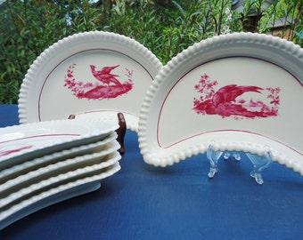 Set of 6 Vintage Copland Spode Bone Dishes