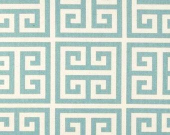 Village Blue Greek Key Curtain Panels. 25 or 50 Inch Widths. 63, 84, 96, 108, 120 Lengths. Window Treatments. Geomeric. Drapery Curtains.