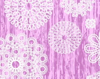 CLEARANCE - Orchid Purple Knots and Loops Fabric - Brambleberry Ridge by Violet Craft from Michael Miller, 25 Inches - End of Bolt
