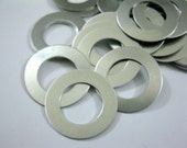 1 1/4 Inch Aluminum Washers, Lot of 20 Round Washer Stamping Blanks, Ready to Ship!