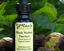 Mac's Natural Black Walnut Hull Tincture, Organic, Wild Harvested,Chemical Free