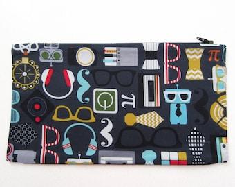 Retro / Geekery Panel to Zip Onto Messenger Bag / Shoulder Bag / Tote Bag