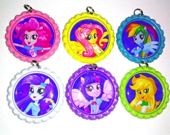 equestria girls little pony party favor bottlecap necklace birthday