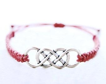 Double Infinity Bracelet - Hemp Bracelet - Hemp Jewelry
