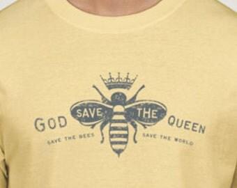 Mens Bee T, Save the bees, Bee Tee, Honey Bee
