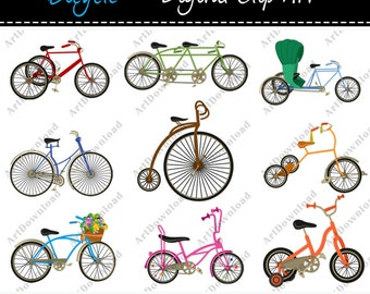 Bicycle -  Clip Art  bicycle, Retro bicycle, Digital bikes , Vintage bicycles for personal and commercial use
