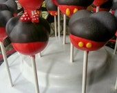 Custom order: Mickey and Minnie Mouse Cake Pops