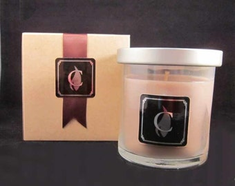 GINGER PEACH candle, 8 oz, optional gift box