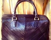 CHEVRON   ///    Leather Striped Doctors Bag