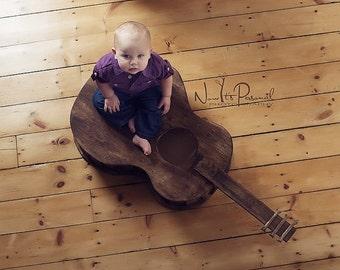 Original Guitar Photo Prop , Newborn Photo Prop , Toddler Photo Prop