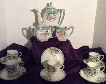 Occupied Japan Luster Tea Set/Chocolate Set  Lustre