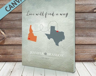 Long Distance Gift, Love Way, Long Distance, Wedding Gift, Anniversary Gift, Gift for girlfriend