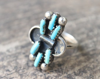 Turquoise Ring / Vintage Southwest Jewelry / Sterling Silver Ring