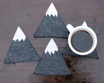 Mountain felt coasters (set of 4)
