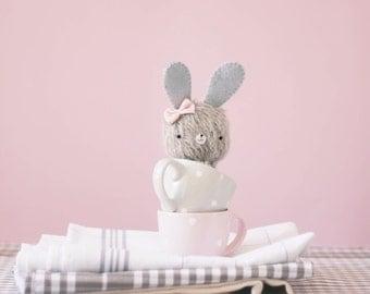 Conchita little bunny plush - made to order - bunny, teddy bear, miniature bear, blythe bear, mohair bear, decorative, collectible, kawaii