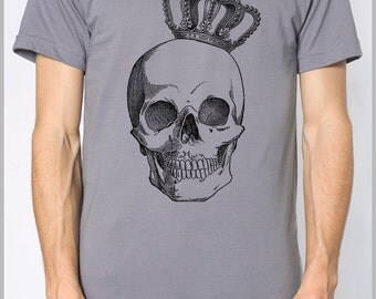 Men's T Shirt Royal Skull American Apparel XS, S, M, L, XL 9 Colors