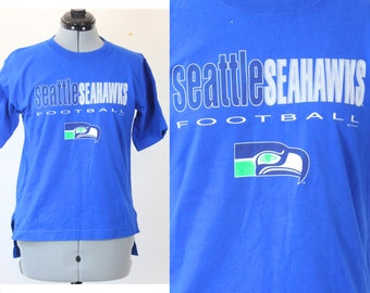 SALE Vintage Retro Bright Blue Seattle Seahawks Windbreaker Jacket