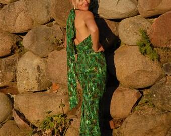 Long Evening Dress, Green, Size M, Worldwide Shipping