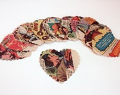 Recycled vintage comic book cutouts