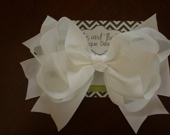 """Jumbo 8"""" Boutique Hairbows in Multi Solid Colors"""