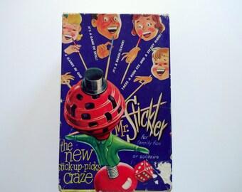 Vintage Mr. Sticker Pick-Up Sticks Game 1960s